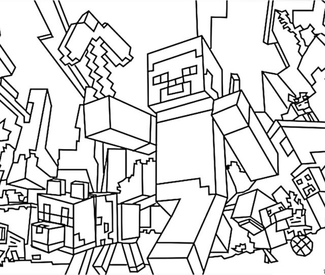 Minecraft Coloring Pages Print Them For Free  Pictures From