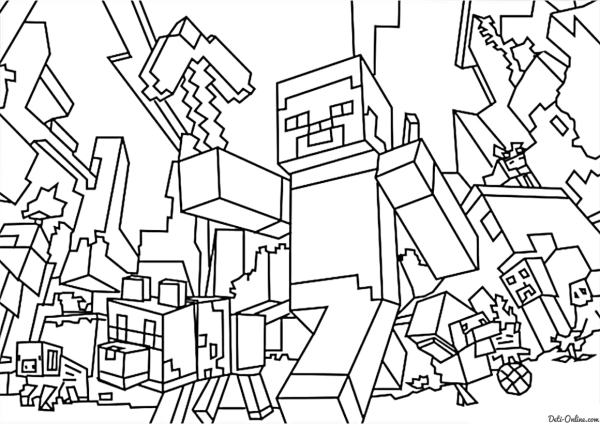 minecraft printable colouring sheets # 44