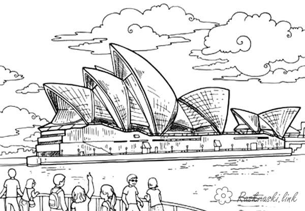 australia free coloring pages online print