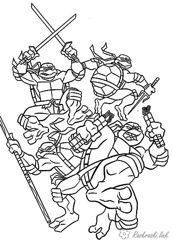 coloring pages ninja turtle color sheets teenage mutant ninja