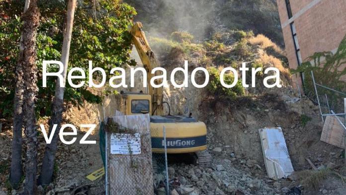 Resultado de imagen de 'Rebanan' parte del Cerro de la Nevería, en Mazatlán