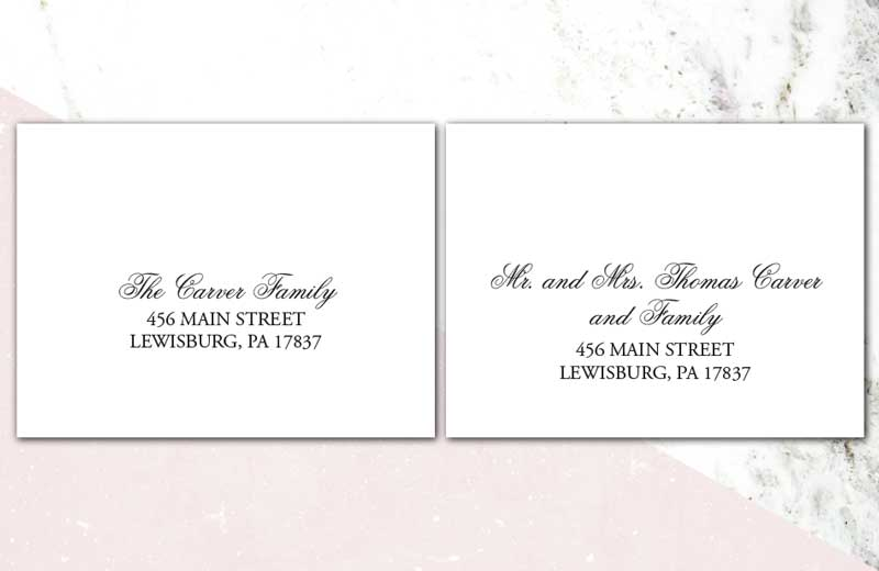 Addressing Wedding Invitations Raspberry Creative Llc