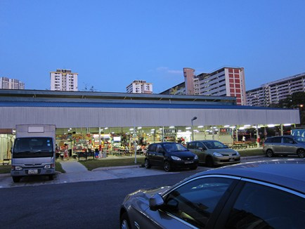 The temporary hawker centre at Ghim Moh, where I went for breakfast..