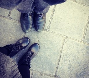 Our feet welfie at Great Wall of China.