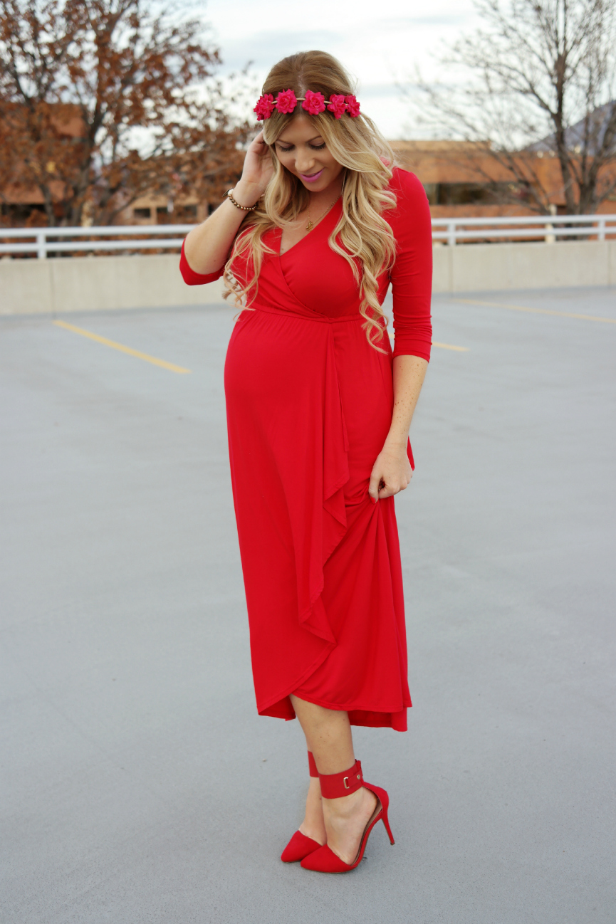 Valentines Day Maternity Style