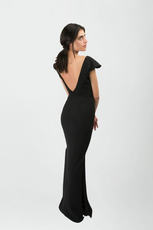 Vestido negro largo2