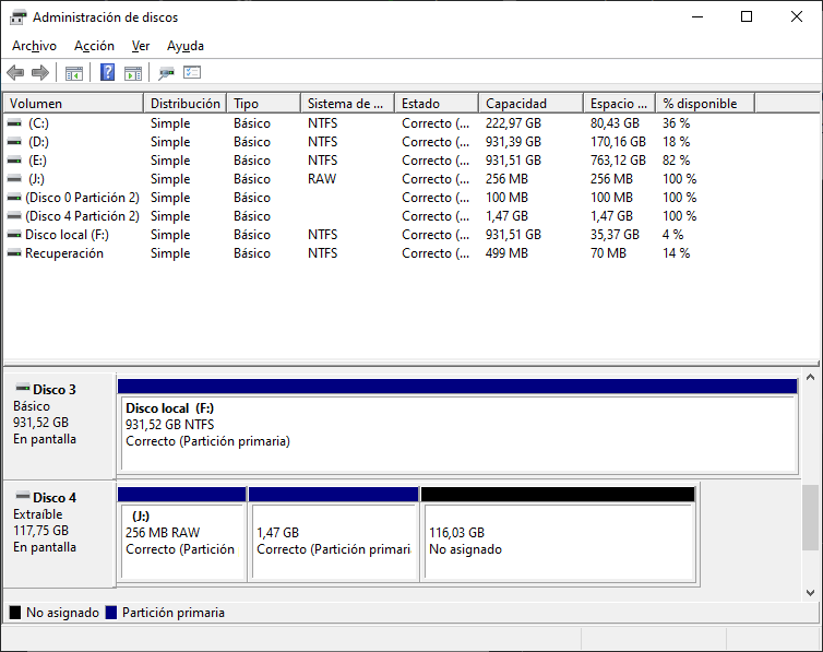 Windows 10 Disk Manager