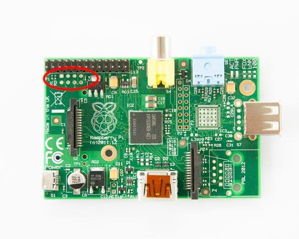 Raspberry Pi 1 conector P5