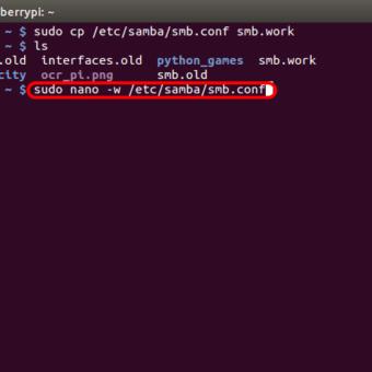 optimizar SAMBA  NAS o servidor casero en la Raspberry Pi 02