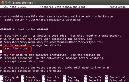 optimizar SAMBA  NAS o servidor casero en la Raspberry Pi 04