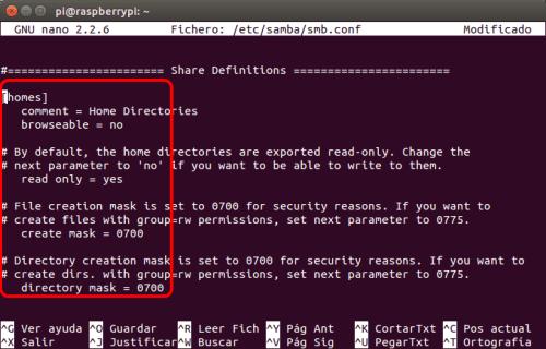 optimizar SAMBA  NAS o servidor casero en la Raspberry Pi 05
