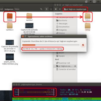 prueba rendimiento SAMBA  NAS o servidor casero en la Raspberry Pi 1