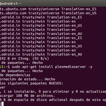 plex server odroid-c1