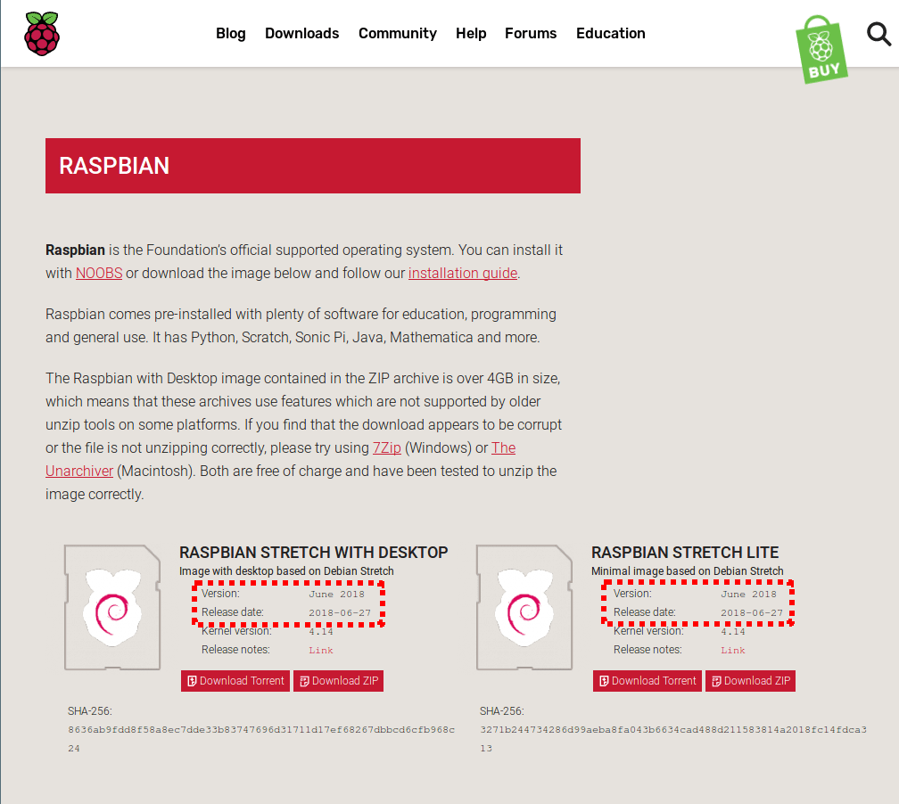 Actualización 2018 Raspbian