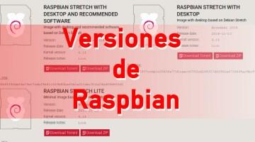versiones-raspbian