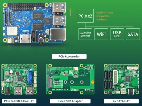 NanoPi M4V2 HAT PCIe NVMe SATA