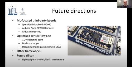 slide de la presentación en tinyML summit 2021