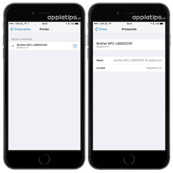 airprint iphone ipad raspberry