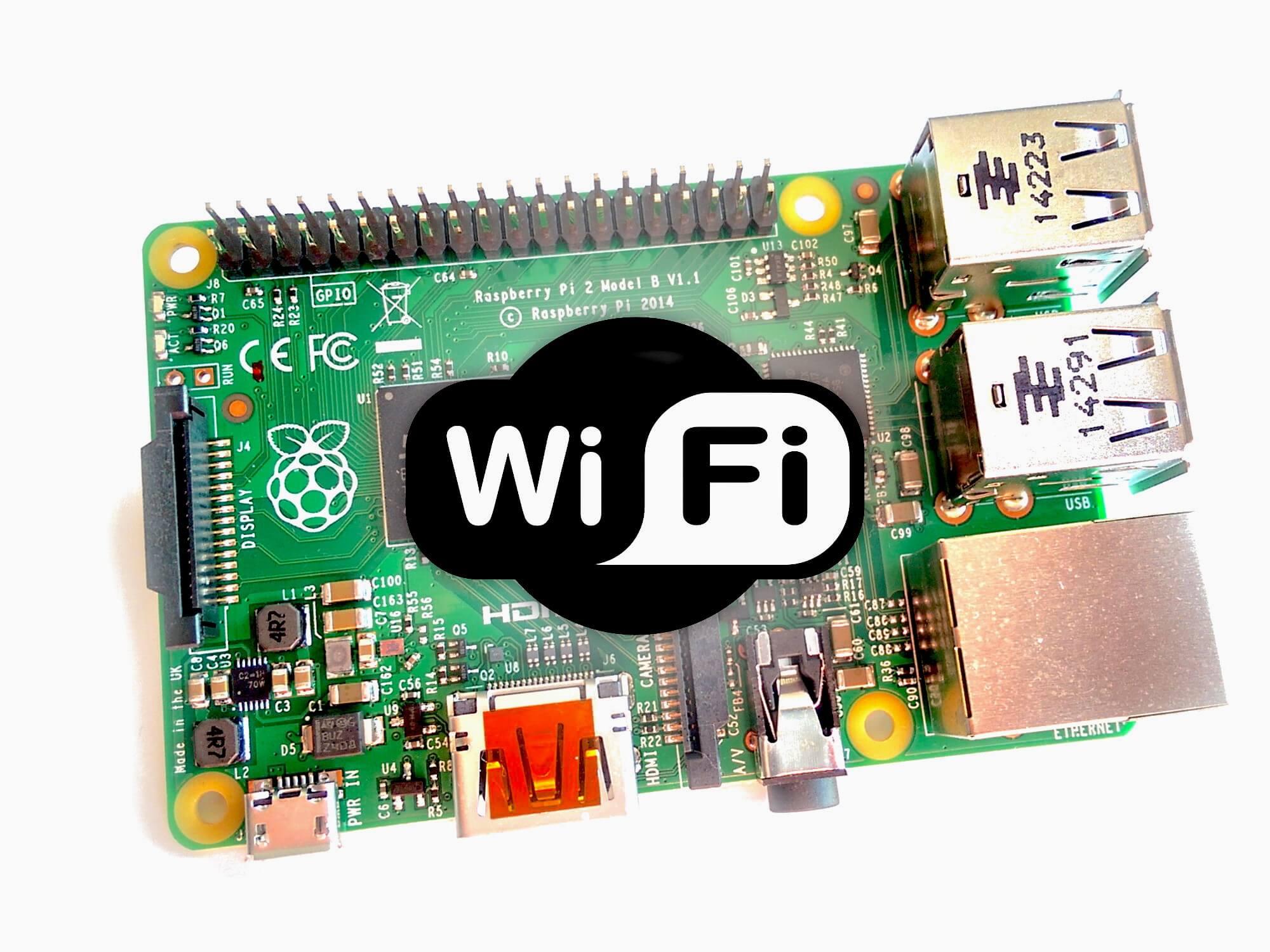 Raspberry Pi met Wi-Fi logo