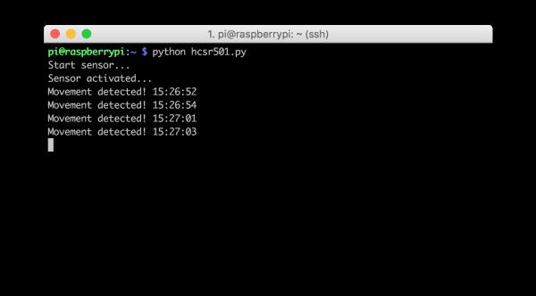 HC-SR501 python script raspberry pi
