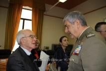 Il decano dei Giornalisti di Puglia Gustavo del Gado ed il C.te CME Puglia, Gen. B. Emanuele Sblendorio
