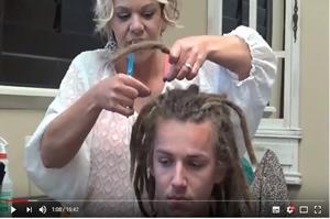 A raszta haj vége, azaz a levágása