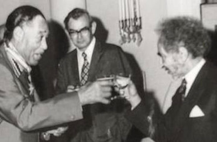 Duke Ellington Toasts Emperor Haile Selassie I