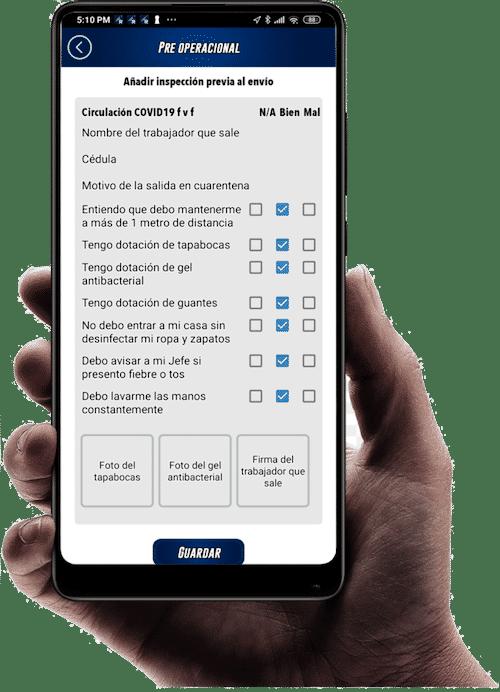 App Rastreo Satelital y digitalización de formularios