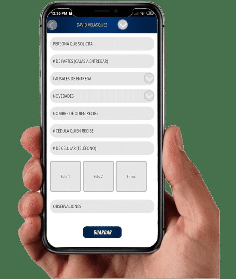 protocolo Acta de entrega app Rastrack
