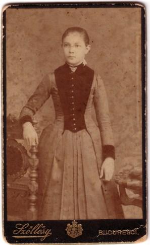 mama bunicului meu carton fata 1898