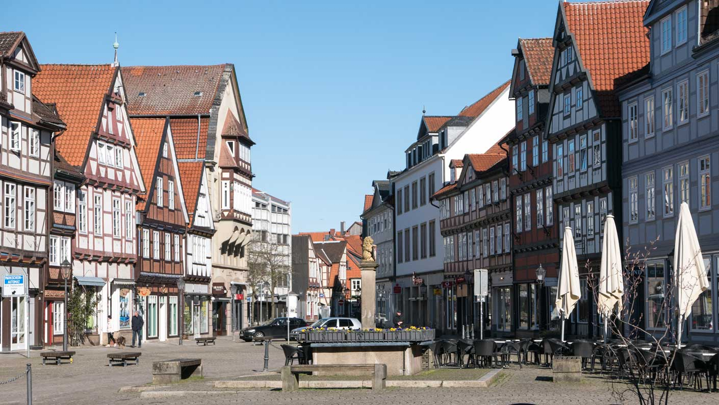 Altstadt Celle beim Lockdown im März 2020