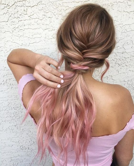 The most fashionable types of dyeing for long hair 12