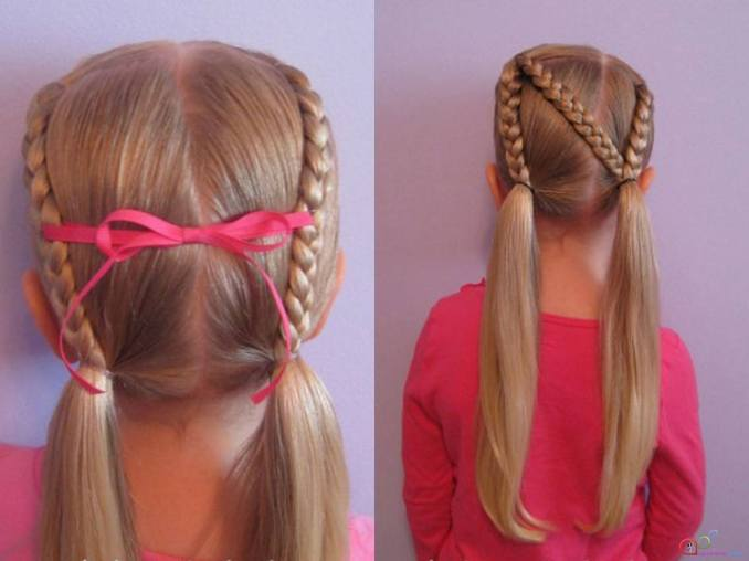 Simple and trendy hairstyles to school 16