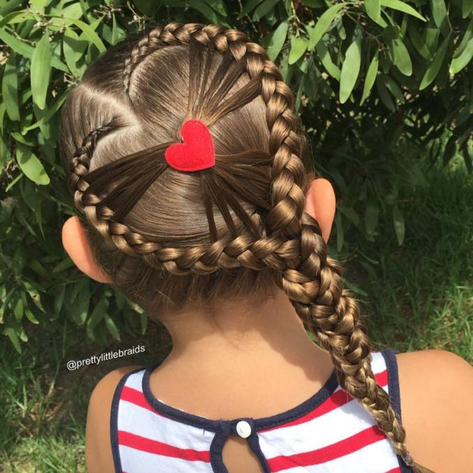 Simple and trendy hairstyles to school 34