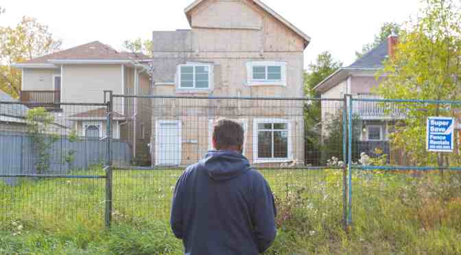 """<span class=""""entry-title-primary"""">Infill development frustrates residents</span> <span class=""""entry-subtitle"""">Unfinished duplex on Alberta Avenue has been sitting for years</span>"""