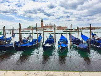Gondolas along Grand Canal