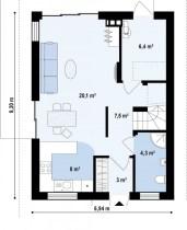 Rate La Dezvoltator - Casa ieftina Parter si Mansarda - Plan Parter