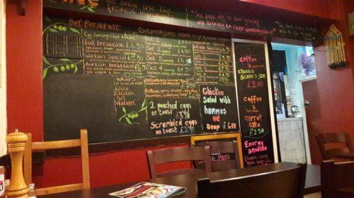 Olive Cafe Chalkboard Menu