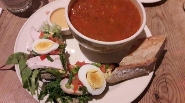 Le Pain Quotidien Soup and Tartine