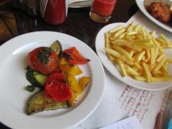 Cafe Louvre Grilled Vegetables and Fries