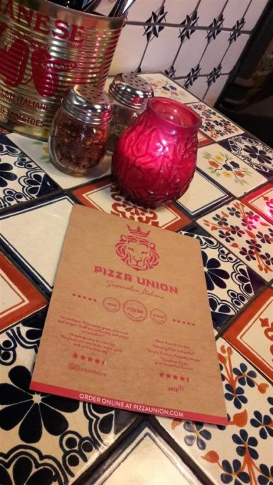 Pizza Union Table Setting