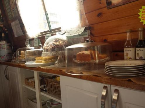 Safari Narrowboat Tearoom Cakes