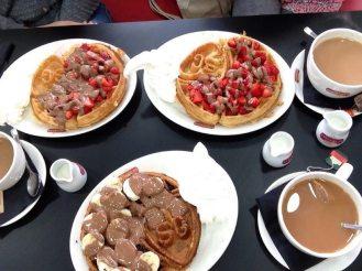 Sprinkles Waffles and Tea