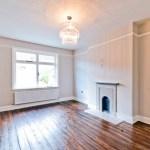 Dark varnish finish on old floorboards