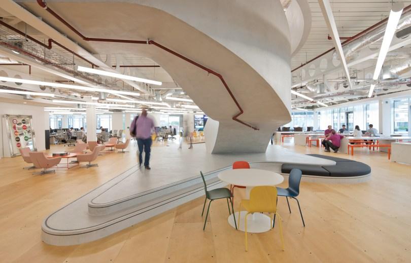 Open plan office space UKTV London