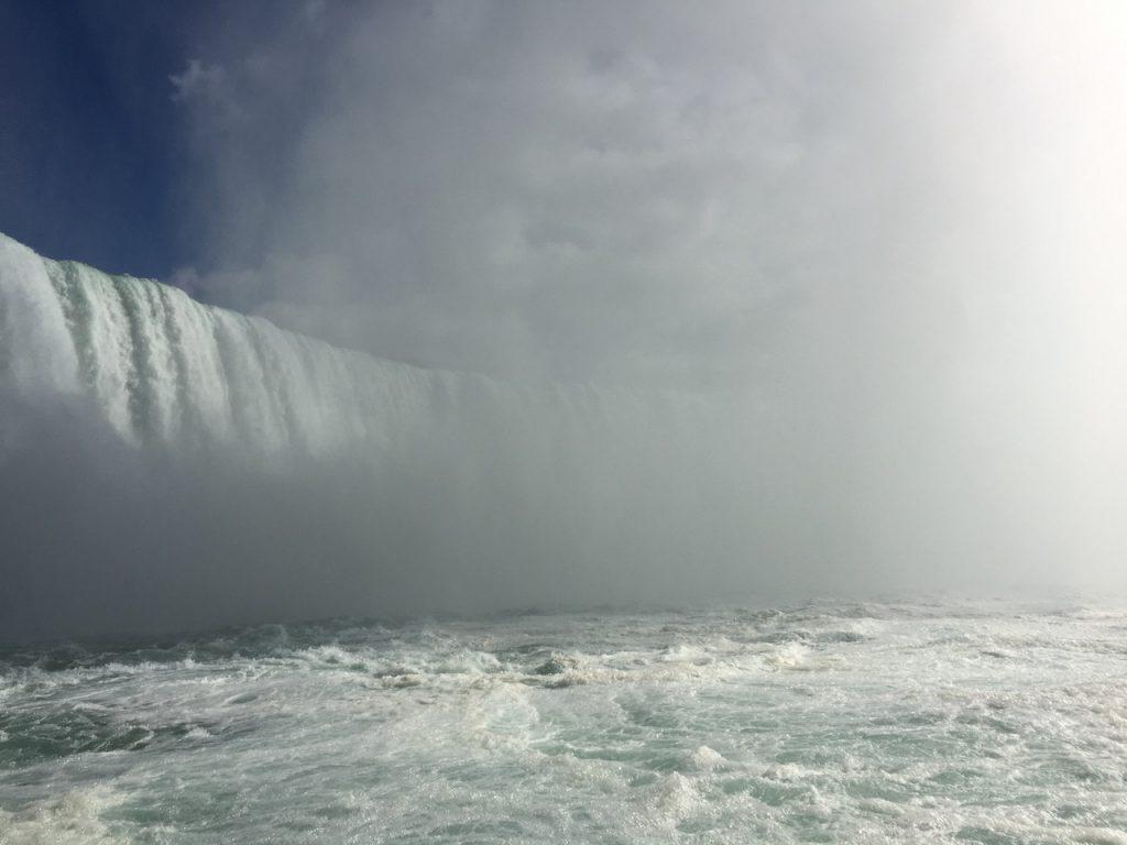 Ниагарский водопад. Подкова. Столб воды