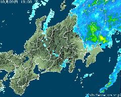 気象レーダー(午後7時)