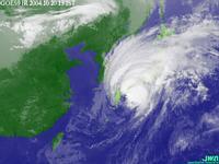 台風23号(午後1時現在)