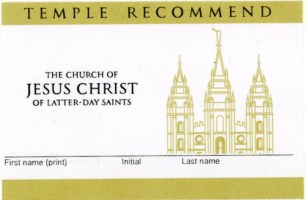 Image result for temple recommend