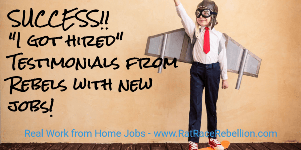 "Success! ""I got hired"" testimonials from Rebels with new jobs!"